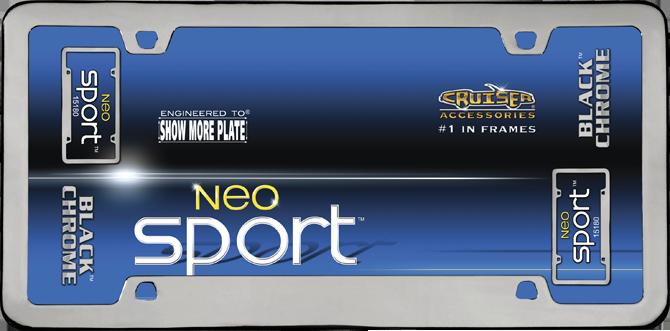 Cruiser Accessories Neo Sport Black Chrome License