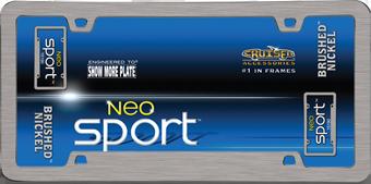 Cruiser Accessories Neo Sport Brushed Nickel License