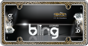 Leopard Bling, Chrome/Gold/Black/Clear