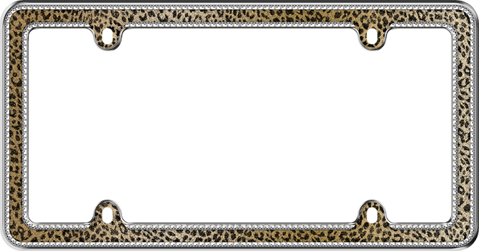 Cruiser Accessories Leopard Bling License Plate Frame