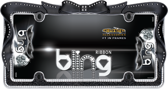 Ribbon Bling, Chrome/Black/Clear