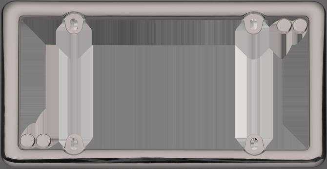nouveau black chrome wfastener caps