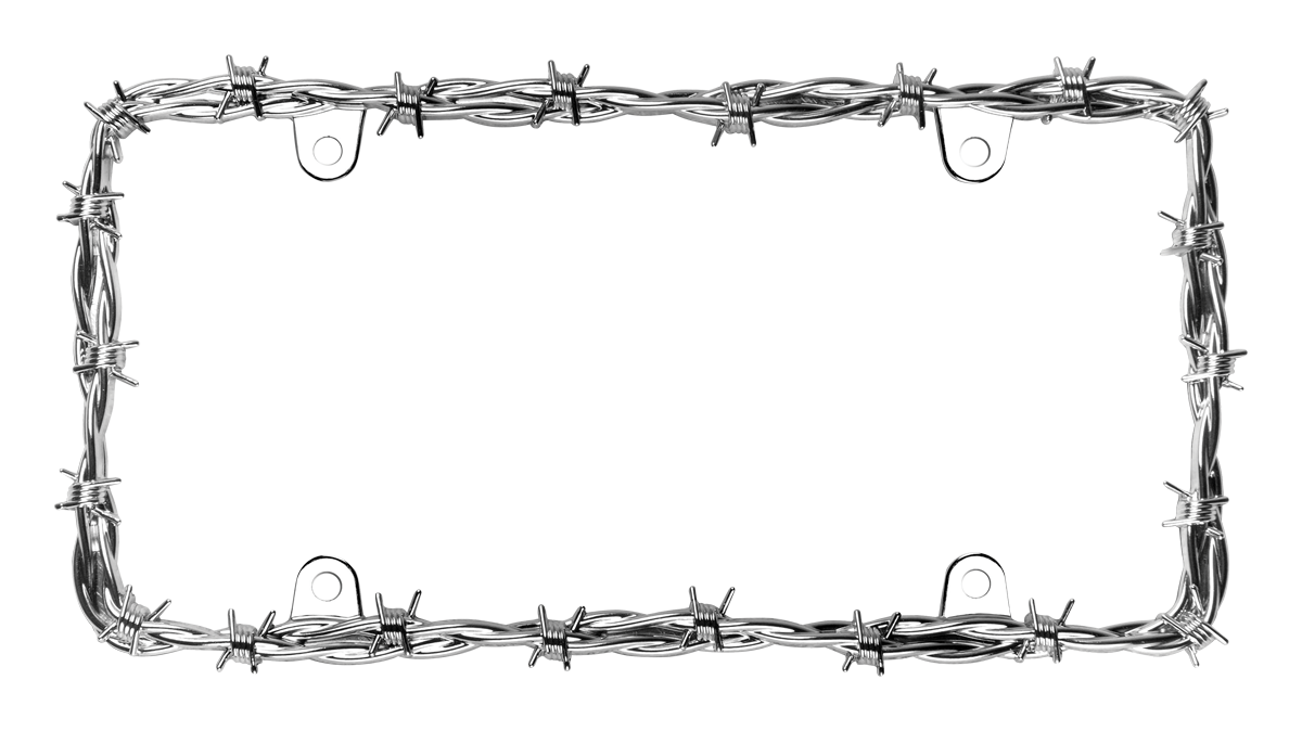 Barbed Wire II - License Plate Frame | Cruiser Accessories