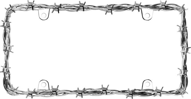 Cruiser Accessories : Barbed Wire II License Plate Frame