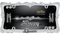 Queen, Chrome/Clear w/fastener caps
