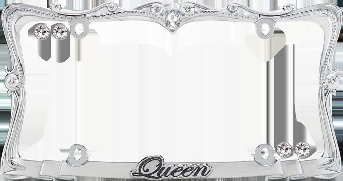 queen chromeclear wfastener caps