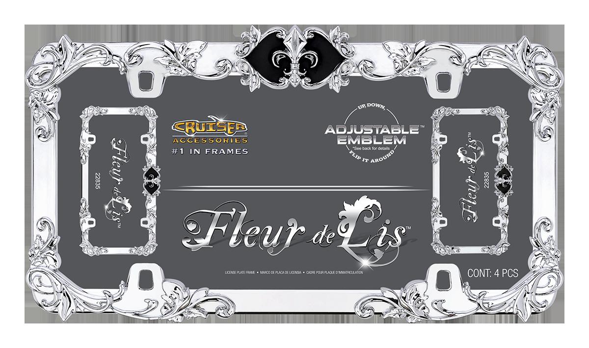 Fleur De Lis License Plate Frame Cruiser Accessories