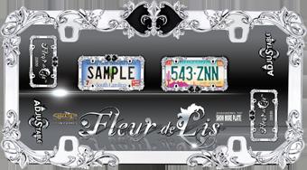 Cruiser Accessories Fleur De Lis License Plate Frame