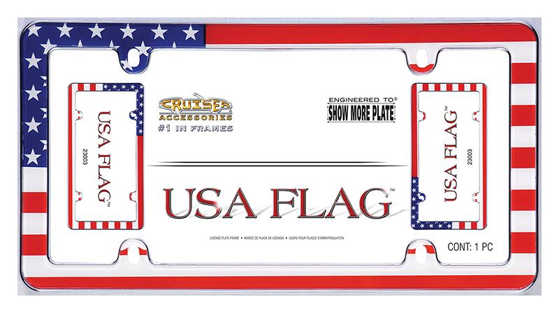 USA Flag - License Plate Frame   Cruiser Accessories