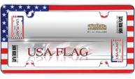 USA Flag, Chrome