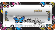 Butterfly, Chrome w/fastener caps