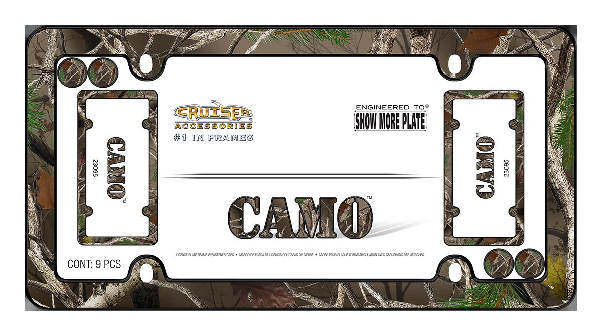 Camo - License Plate Frame | Cruiser Accessories