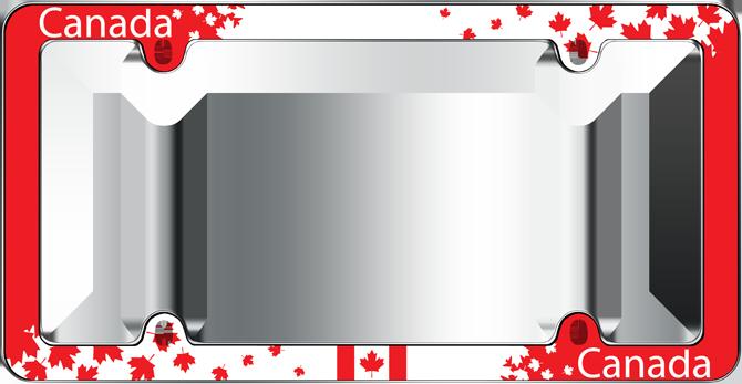 Canadian Eyeglass Frame Companies : Cruiser Accessories : Canada Maple Leaf License Plate Frame