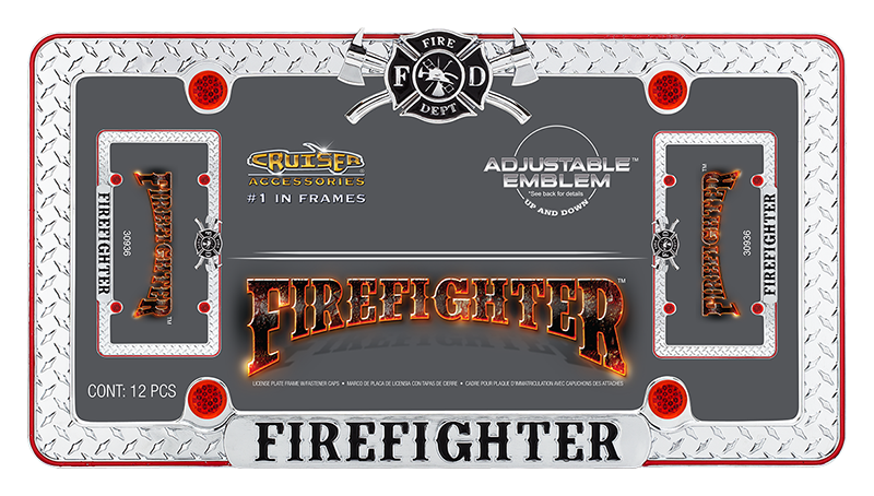 Firefighter - License Plate Frame | Cruiser Accessories