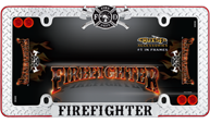 Firefighter, Chrome/Black/Red w/fastener caps