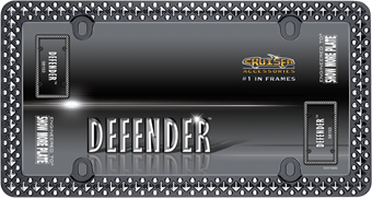 Defender, Matte Black/Chrome