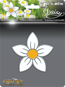 Shop here for Cruiser's auto decals, Daisy flower decal displayed.