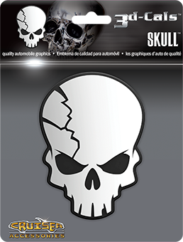 Shop here for Cruiser's auto decals, Skull decal displayed.